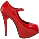 Escarpins Rouges Vernis à Brides Talon Plateforme TEEZE-07
