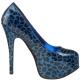 Escarpin bleu léopard TEEZE-37