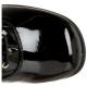 Bottes de Majorette à Lacet Noires Vernies RETRO-302