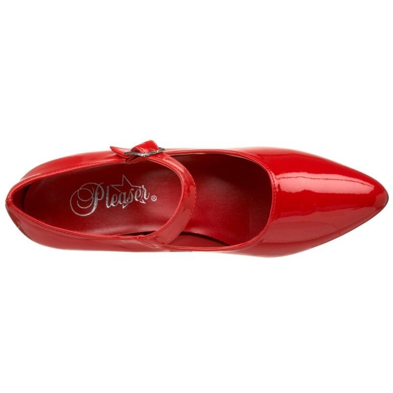 Escarpin pied large rouge vernis grandes pointures - Pied vernis rouge ...