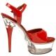 Sandale rouge captiva -609 plateforme  Transparente