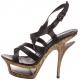 Sandale noir en cuir DELUXE-636