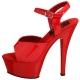 Sandale rouge vernis KISS-209