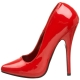 Escarpins Sexy Talon Aiguille Rouges Vernis Domina-420