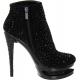 Bottines haute couture noire en ligne