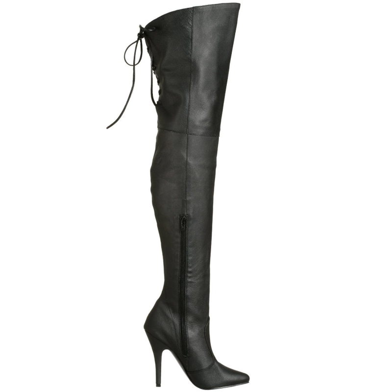 cuissarde cuir noir talon haut chaussure fille sexy. Black Bedroom Furniture Sets. Home Design Ideas