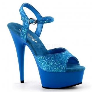 Sandale UV bleu à bride talon haut plateforme DELIGHT-609UVG