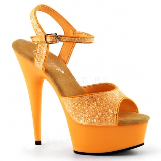 Sandale UV orange à bride talon haut plateforme DELIGHT-609UVG