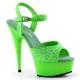 Sandale UV verte à bride talon haut plateforme DELIGHT-609UVG