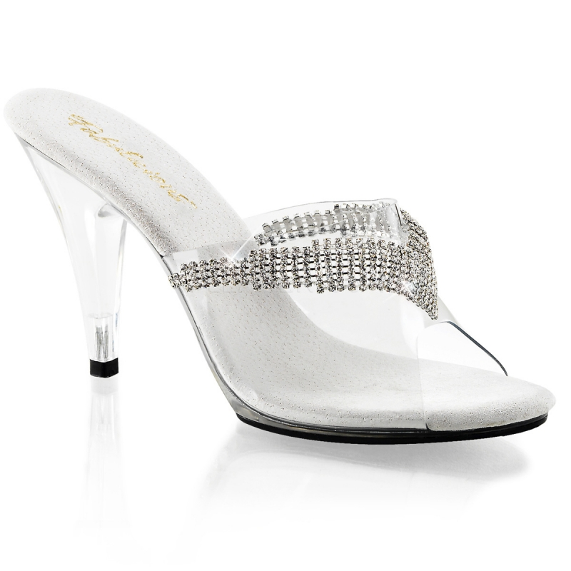 chaussure mode petit talon la mule transparente strass. Black Bedroom Furniture Sets. Home Design Ideas