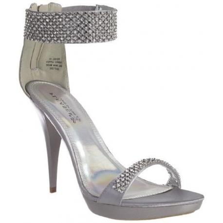 chaussure argente avec strass chaussures femmes chaussure de mariee escarpins argent brillant talons. Black Bedroom Furniture Sets. Home Design Ideas