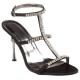Chaussures sandales de soirée satin noir et strass talon fin jewel-27