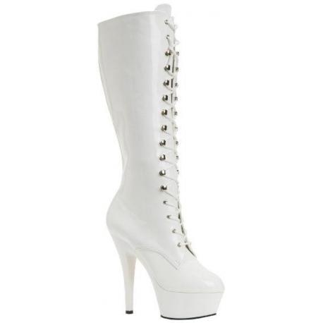 chaussures d 39 hiver la botte blanche talon oothique. Black Bedroom Furniture Sets. Home Design Ideas