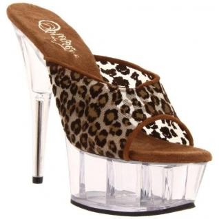 Chaussures mules en léopard talon haut plateforme delight-601m