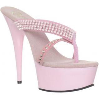 Chaussures tongs entre doigt roses à strass talon haut delight-603-1