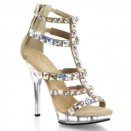 Chaussures sandales caramel talon haut lip-158