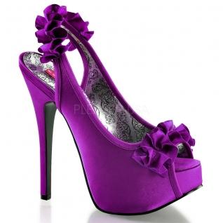 Sandales en satin coloris violet talon haut plateforme teeze-56