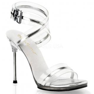 Chaussures sandales à bride croisée coloris argent talon aiguille chic-05