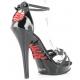 Chaussures sandales noire vernies  brides  talon haut lip-162