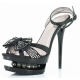 Chaussures à plateforme sandales à brides croisées talon haut