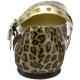 Ballerines léopard vernis