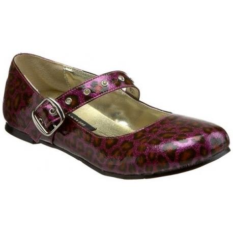 Chaussures plates ballerines violettes à bride daisy-04