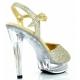 Chaussures de Spectacle sandales dorées talon haut cocktail-509