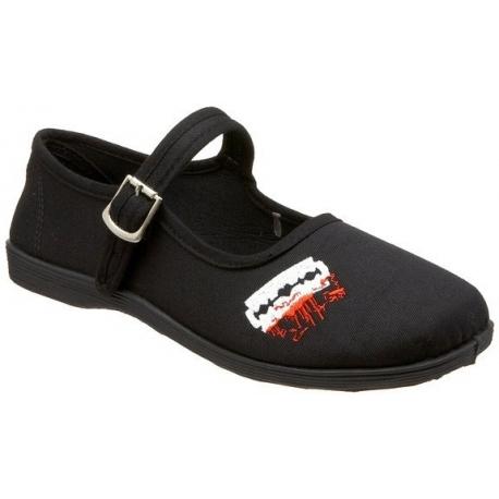 Chaussures ballerines noires à brides sassie-14