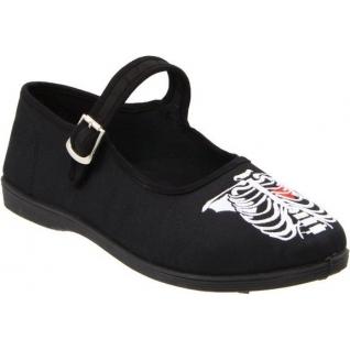 Chaussures ballerines gothiques noires à bride sassie-11