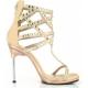 Chaussures sandales à brides coloris caramel talon aiguille chic-32