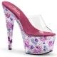 Chaussures originales mules fantaisies talon plateforme crystalize-701