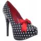 Chaussures polka escarpins à lacet satin rouge talon haut teeze-12-5