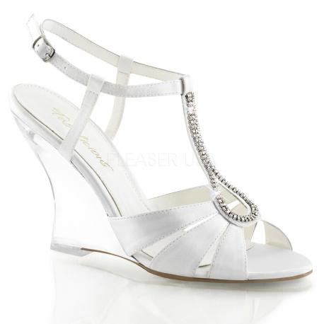 chaussures compenses nu pieds de mariage lovely 420 - Chaussure Compense Mariage