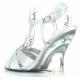 Chaussures compensées sandales habillées argentées lovely-420