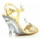 Chaussures talon compensé nu-pieds dorés à bride lovely-442