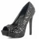 Chaussures Peep Toe escarpins noirs à strass talon fin lumina-27sq