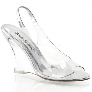 Chaussures compensées sandales transparentes à brides lovely-450