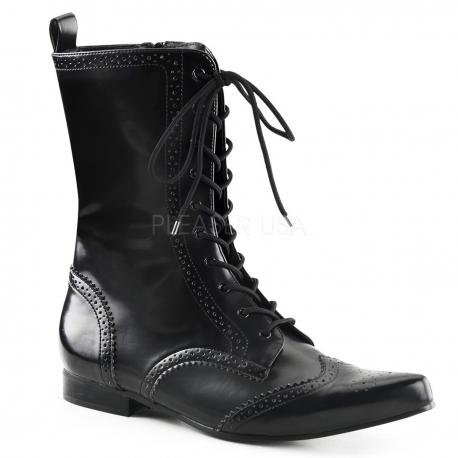 Chaussures hommes bottines noires à lacet brogue-10