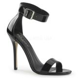 Sandales noires vernies à bride