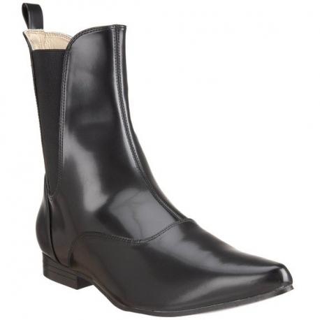 Chaussures hommes bottines modes noires talon large broque-02