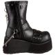 Chaussures gothiques bottines punk talon compensé clash-430