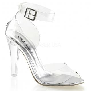 Chaussures transparentes sandales sexy à bride talon haut clearly-430