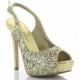 Chaussures à paillettes sandales dorées talon fin lumina-28g