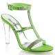 Chaussures à talon transparent sandales à strass vertes clearly-418
