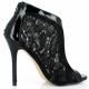 Chaussures en dentelle escarpins Peep Toe noir haut talon amuse-48