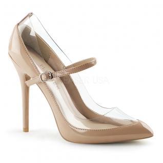 Chaussures modes escarpins à bride coloris caramel talon fin amuse-21