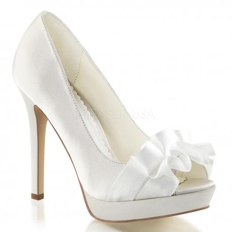 Chaussures en satin escarpins ivoires talon haut lumina-42