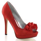Chaussures habillées escarpins en satin rouge talon fin lumina-42