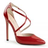 Chaussures d'Orsay escarpins rouges vernis talon aiguille sexy-26