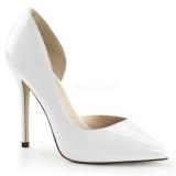 Chaussures de mariage escarpins blancs vernis amuse-22